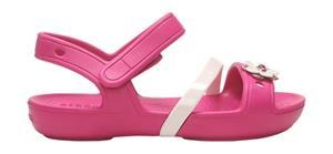 """Crocsâ""""¢ lasten vapaa-ajan kengät Lina Charm Sandal Kid's, pinkki 23"""