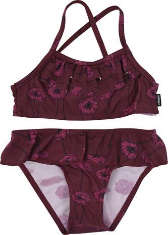 Lindberg Allie Bikinit UPF50+, Burgundy, 122/127