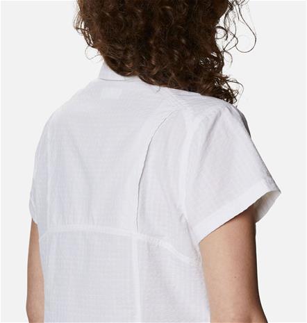 Columbia Women's Silver Ridge Novelty Short Sleeve Shirt Valkoinen S