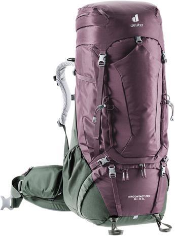 deuter Aircontact PRO 65 + 15 SL Backpack, punainen/oliivi