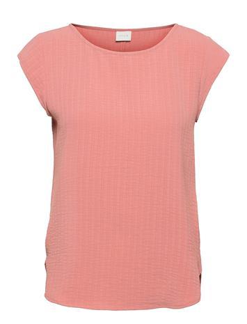 Vila Vilovie Capsleeve Top/Su - Fav T-shirts & Tops Short-sleeved Vaaleanpunainen Vila OLD ROSE
