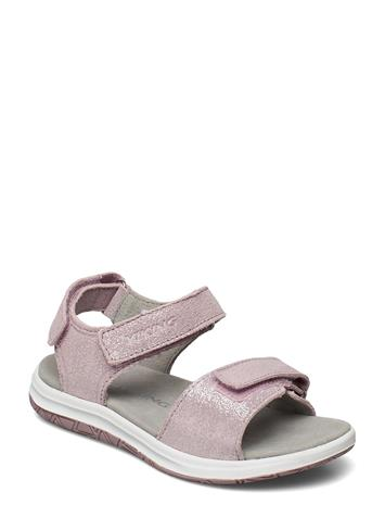 Viking Helle Metallic Shoes Summer Shoes Sandals Vaaleanpunainen Viking DUSTY PINK