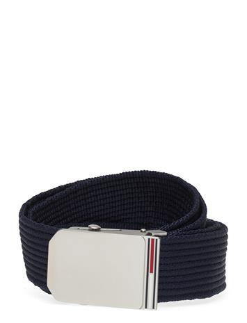 Tommy Hilfiger Tjm Slider Buckle 3.5 Accessories Belts Braided Belt Sininen Tommy Hilfiger TWILIGHT NAVY