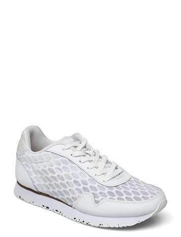 Woden Nora Iii Mesh Leather Matalavartiset Sneakerit Tennarit Valkoinen Woden BRIGHT WHITE