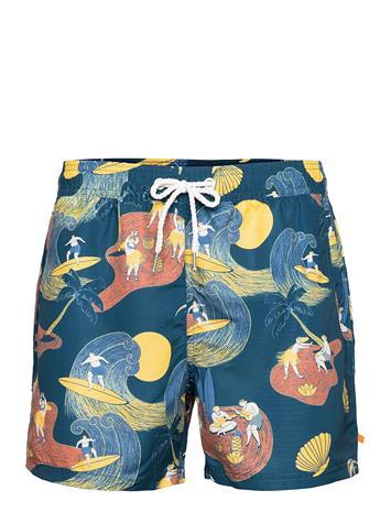 Far Afield Printed Swimshorts Uimashortsit Sininen Far Afield BLUE