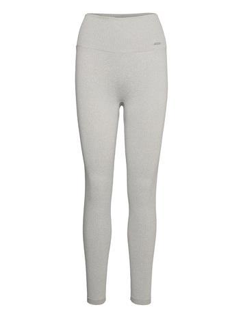 AIM'N Light Grey Melange Ribbed Seamless Tights Leggingsit Harmaa AIM'N LIGHT GREY