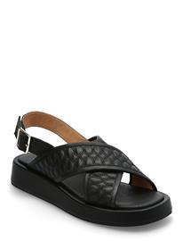 Shoe The Bear Stb-Astrid Quilt L Shoes Summer Shoes Flat Sandals Musta Shoe The Bear BLACK / BLACK