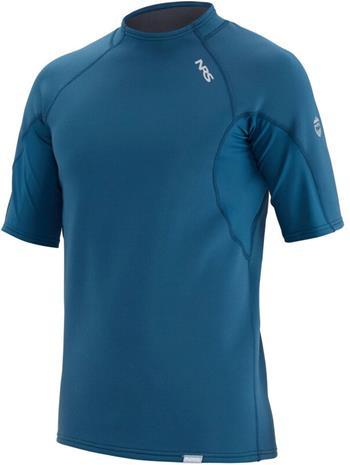 NRS HydroSkin 0.5 Short Sleeve Shirt Men, sininen