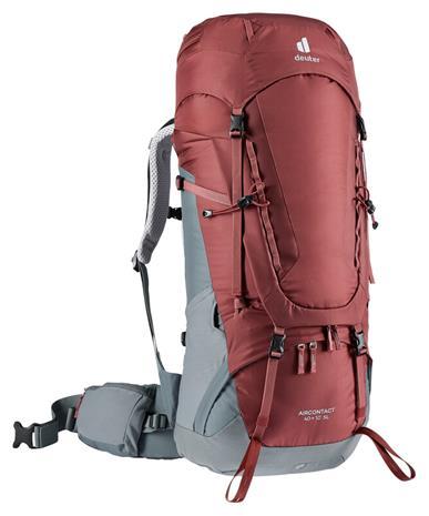 deuter Aircontact 40 + 10 SL Backpack Women, harmaa/punainen