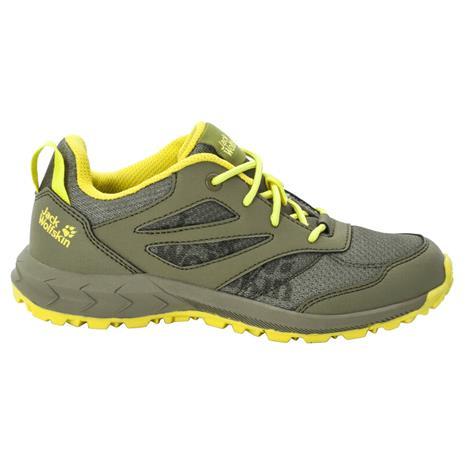 Jack Wolfskin Woodland Low Shoes Kids, keltainen/oliivi