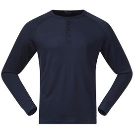 Bergans Lysebu Henley Wool Long Sleeve Shirt Men, sininen