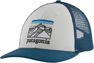 Patagonia Line Logo Ridge LoPro Trucker Hat, sininen/valkoinen
