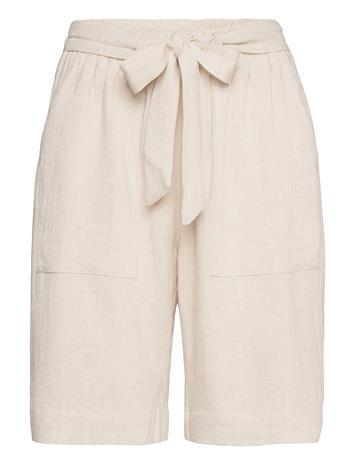 Kaffe Kaliny Shorts Shorts Flowy Shorts/Casual Shorts Beige Kaffe LIGHT SAND LINEN