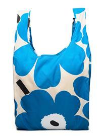 Marimekko Smartbag Unikko Shopper Laukku Sininen Marimekko OFF WHITE, BLUE, BLACK