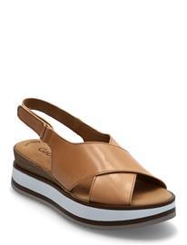 Gabor Ankle-Stap Sandal Shoes Summer Shoes Flat Sandals Beige Gabor BROWN