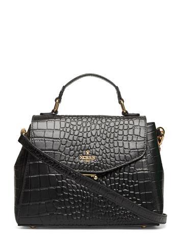 Morris Accessories Lize Bags Top Handle Bags Musta Morris Accessories BLACK CROCO