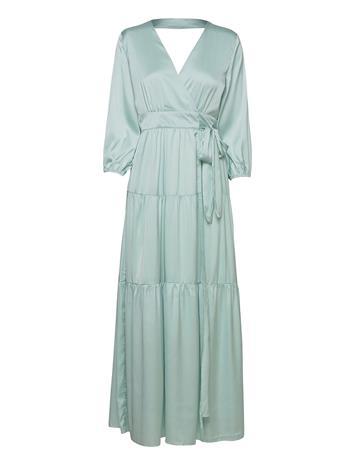 YAS Yaslumen Wrap 3/4 Maxi Dress - Show Dresses Evening Dresses Sininen YAS STARLIGHT BLUE