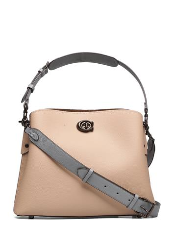 Coach Willow Shoulder Bag Leather Womens Bags Bags Small Shoulder Bags - Crossbody Bags Beige Coach V5TAP