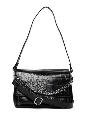 Nunoo H Y Croco Deluxe Bags Small Shoulder Bags - Crossbody Bags Musta Nunoo BLACK