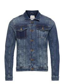 Blend Denim Jacket Farkkutakki Denimtakki Sininen Blend DENIM MIDDLE BLUE