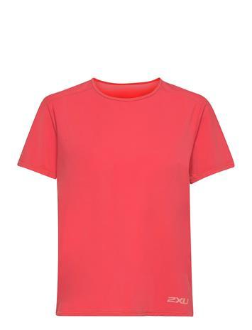 2XU Motion Mesh Tee T-shirts & Tops Short-sleeved Punainen 2XU CRANBERRY/ROSETTE