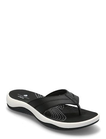 Clarks Sunni Surf Shoes Summer Shoes Flat Sandals Musta Clarks BLACK