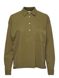 MOS MOSH Cael Jersey Shirt Pitkähihainen Paita Vihreä MOS MOSH WINTER MOSS