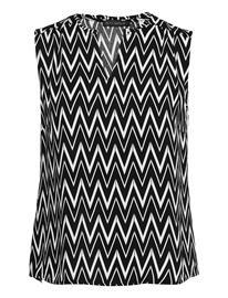 Betty Barclay Blouse Short Without Sleeve Hihaton Pusero Paita Musta Betty Barclay BLACK/WHITE