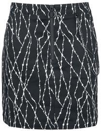 Hell Bunny - Barbed Mini Skirt - Lyhyt hame - Naiset - Musta