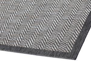 Narma Axel -sileäksi kudottu matto, harmaa, 80 x 150 cm