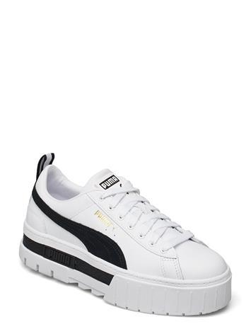 PUMA Mayze Lth Wn'S Matalavartiset Sneakerit Tennarit Valkoinen PUMA PUMA WHITE-PUMA BLACK