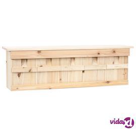 vidaXL Varpusen pesälaatikko 5 huonetta 68x15x21 cm kuusi
