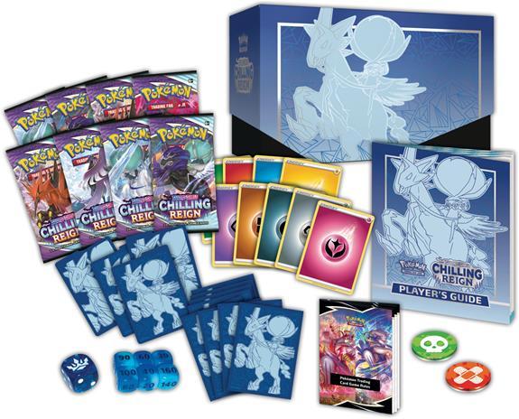 Pokemon SWSH6: Chilling Reign Elite Trainer Box Ice Rider Calyrex (Blue)