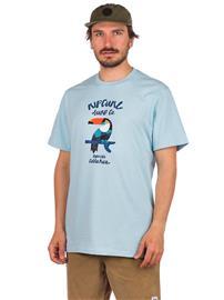 Rip Curl Destination Animals T-Shirt light blue Miehet