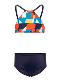 O'Neill Pg Cali Holiday Bikini Bikinit Sininen O'Neill BLUE AOP W/ RED