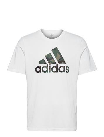 adidas Performance M Camo T T-shirts Short-sleeved Valkoinen Adidas Performance WHITE/LEGGRN