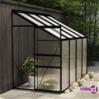 vidaXL Kasvihuone antrasiitti alumiini 5,24 m²