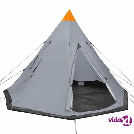 vidaXL 4-hengen teltta harmaa
