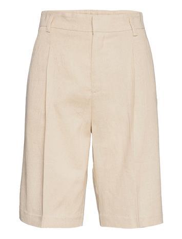 Gina Tricot Caroline Linen Shorts Shorts Flowy Shorts/Casual Shorts Kermanvärinen Gina Tricot LINEN BEIGE (1061)