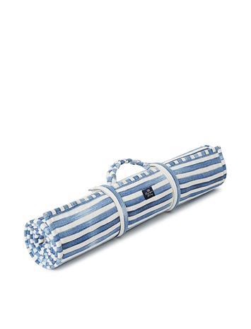 Lexington Home Blue Striped Cotton Canvas Beach Mat Swimwear Beach Towels Sininen Lexington Home BLUE/WHITE