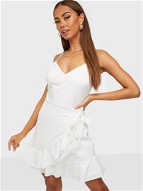 Parisian Side Wrap Frilly Dress, Naisten hameet ja mekot