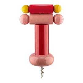 Alessi Sottsass korkkiruuvi, punainen - pinkki - keltainen