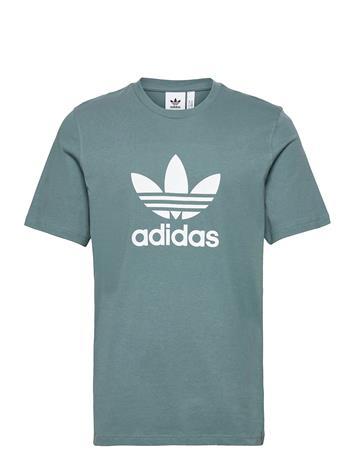 adidas Originals Adicolor Classics Trefoil T-Shirt T-shirts Short-sleeved Vihreä Adidas Originals HAZEME/WHITE