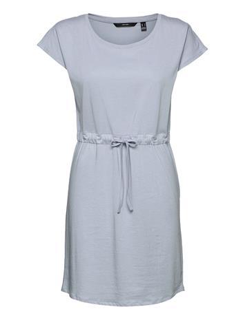 Vero Moda Vmdarling Ss Short Dress Ga Boozt Dresses T-shirt Dresses Sininen Vero Moda BLUE FOG