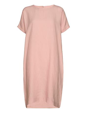 Papu Linen Dress Free Dresses Everyday Dresses Vaaleanpunainen Papu MUTED RED