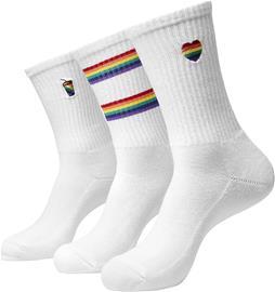 Urban Classics - Pride Icons Socks 3-Pack - Sukat - Unisex - Valkoinen