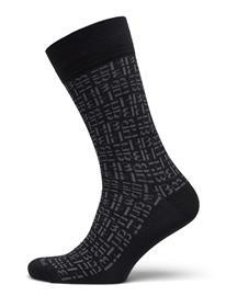 BOSS Rs Dual Monogram Cc Underwear Socks Regular Socks Musta BOSS BLACK