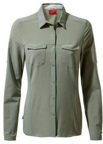 Craghoppers Nosilife Pro III W LS Shirt Sage 12