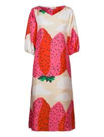 """Marimekko Jylhä"""" Mansikkavuoret Dress Polvipituinen Mekko Vaaleanpunainen Marimekko BEIGE, RED, WHITE"""
