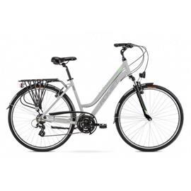 """Romet Gazela 1 naisten kaupunkipyörä vaaleanharmaa-vihreä-valkoinen runko 19"""""""